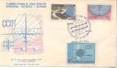 4º ASAMBLEA CCITT  FDC TARJETA PRIMER DIA DE EMISION   ARGENTINA SOBRE ENVELOPE ENVELOPPE  TBE ARGENTINE AÑO 1968 - Télécom
