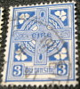 Ireland 1922 Celtic Cross 3p - Used - 1922-37 Irish Free State