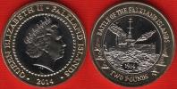 "Falkland Islands 2 Pounds 2014 ""Battle Of The Falkland Islands"" BiMetallic UNC - Falkland Islands"