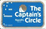 Early Harrah´s Casino Atlantic City NJ Captain´s Circle Slot Card - Casino Cards
