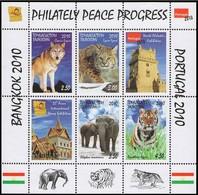 Tajikistan 2010  Animals Elephants Tigers   S\sh  MNH** - Felini