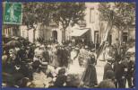 CCC -- CARTE PHOTO AUDE (11) - NARBONNE (A VALIDER) - MANIFESTATION VITICOLE 1907 - DELEGATION DE CUXAC D'AUDE - Narbonne