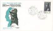 ITALIA - FDC - UNIVERSAL EDITRICE - ANNO 1963 - PICO DELLA MIRANDOLA - ROMA FIL - FDC