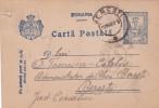 CENSORED WW1  STATIONERY POSTCARD  1918, ROMANIA. - World War 1 Letters