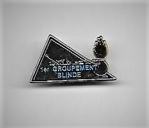 PINS  GENDARMERIE 1er GROUPEMENT BLINDE  / Signé Boussemart Argenté / 33NAT - Army