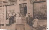 "GOLBEY : (88)  RARE CARTE PHOTO  ""UNION COOPERATIVE  Dit LA COP""  Rue De La Moselle Vers 1911 - Golbey"