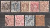 MONACO 1885 - 1901, Lot De 9 Timbres Type Charles III Et Albert 1 Er, Neufs Et Obl, Dont N° 3, 4 (*) Cote , 265 Euros - Monaco