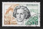N° 1382   FRANCE  -  OBLITERE -  LUDOVIC VAN BETHOVEN   -  1963 - Usados