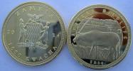 ZAMBIA SAMBIA  2014 1000 KWACHA MONETA DA 31,10 GRAMMI GOLD  PLATED ORICE - Zambia