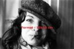 Reproduction D'une Photographie D'un Portrait De Romy Schneider Avec Béret Et Cigarette à La Bouche - Photographie