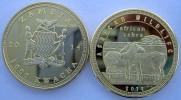 ZAMBIA SAMBIA  2014 1000 KWACHA MONETA DA 31,10 GRAMMI GOLD  PLATED ZEBRA - Zambia