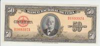 Cuba 50 Peso 1958 Pick 81b UNC - Cuba
