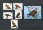 AZERBAIJAN 1994 BIRDS OF PREY SERIE + BLOK.USED/CTO - Azerbeidzjan