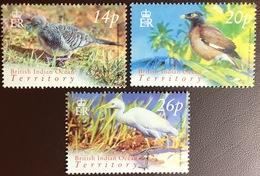 British Indian Ocean Territory BIOT 2004 Birds 3 Values MNH - Zonder Classificatie