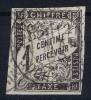 Cochinchine  Col. Gen. Taxe Yv Nr 1 Obl. Used Cad Cochinchine - Oblitérés