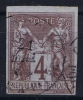 GUADELOUPE   Col. Gen.  Yv Nr 39 Obl. Used Cachet Pointe-a-Pitre - Guadeloupe (1884-1947)