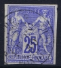 INDE  Col. Gen.  Yv Nr 36 Obl. Used  Cad Pondichéry - Used Stamps