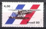 Bresil : N° Yvert  1425 * * - Avion  ( 50 éme Anniversaire De La 1ére Traversée De L´aéropostale Atlantique Sud ) . . - Avions