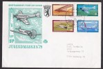 Germany - Berlin: Circulated FDC First Day Cover, 1979, 4 Welfare Stamps, Airplanes, Aviation History (traces Of Use) - [5] Berlijn