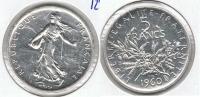 FRANCIA FRANCE 5 FRANCS 1960 PLATA SILVER P BONITA - J. 5 Francos