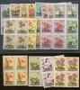 1960 Fleurs Surchargés  17 Valeurs   ** Cote 85 E X 4 = 340 Euros - Katanga