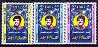 IRAQ IRAK 1982 July Festivals Saddam Hussein Set SC 1066 - 1068 MNH - Iraq