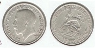 R.U. INGLATERRA SHILLING 1921 PLATA SILVER P - 1902-1971 : Monedas Post-Victorianas