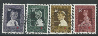 Liechtenstein, Mi 338-41 Jaar 1955, Gestempeld, Cote 20,00 Euro à 15 %, Zie Scan - Oblitérés