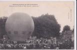 """Carte 1908 CHATEAU DU LOIR / UN JOUR DE COURSES ,BALLON (montgolfière) Place De L'hotel De Ville,avant Le """"lachez Tout"""" - Chateau Du Loir"""