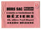 Marianne De Briat Autocollant Sans Valeur Seul Sur Lettre HORS SAC - Adhésifs (autocollants)