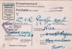 JANVIER 1944 STALAG 29 III B POUR NICE VIA GRANDE BRETAGNE. CORRESPONDANCE DES PRISONNIERS DE GUERRE  / 6006 - 2. Weltkrieg 1939-1945