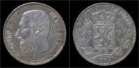 Belgium Leopold II 5 Frank 1865 - 1865-1909: Leopoldo II