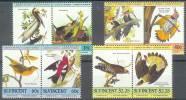 ANIMALES/PAJAROS. ST VINCENT 1985. Yvert#812/19**  Precio Cat€6 - Cuckoos & Turacos