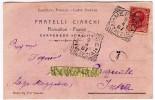 FRATELLI CIANCHI - FLORICOLTORI - FIORISTI - CARPENEDO DI MESTRE - 1907 - CARTOLINA POSTALE INTESTATA - Formato Piccolo - Commercio