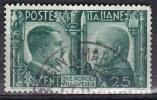 Regno D'Italia, 1941 - 25c Fratellanza Italo-Tedesca - Nr.454 Usato° - 1900-44 Vittorio Emanuele III