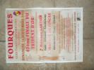 AFFICHE FOURQUES CLUB TAURIN TRIDENT D OR MANADE LAUTIER JONCAS COCARDE COURSE LIBRE GARD - Posters