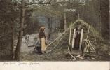 Vintage Postcard (Undivided Back),  From Rural. (Shelter Made Of Conifers), Sweden. Smaland (ref.# 3093e) - Suède