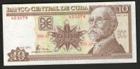 CUBA 2001 - BANCONOTA 10 PESOS QFDT