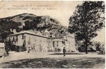 Campania-avellino Montevergine Prospetto Del Santuario Veduta Animata Primi 900 - Avellino