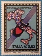 2004 - ITALIA - SICUREZZA STRADALE - EMISSIONE CONGIUNTA CON FRANCIA - NAZIONI UNITE UFFICIO DI GINEVRA. MNH - Emissioni Congiunte