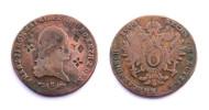 6 Kreutzer 1800 S. Österreich. Surfrappé/ Overstrike/ Надчекан. Copper/ - Austria