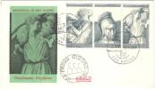 SAN MARINO - 1981 - BIMILLENARIO NASCITA DI VIRGILIO - FDC ROMA - Ecrivains