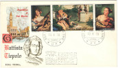 SAN MARINO - 1970 - TIEPOLO - FDC ROMA - FDC