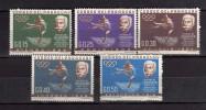 Paraguay **- 1963 - Baron Pierre De Coubertin.  Yvert. 709à713 . MNH. NEUF.    Vedi Descrizione - Paraguay