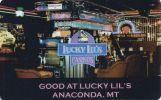 Lucky Lil's Casino - Anaconda, Montana - Slot Card With Barcode Sticker   ...[RSC][MSC]... - Casino Cards