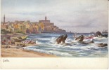 Jaffa Israel, Shore Coast Ships Boats Illustrated C1900s Vintage Postcard - Israel