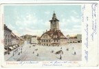 Bacau Romania, Town Hall Rathaus, Town Square Scene, C1900s Vintage Postcard - Romania