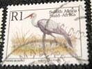 South Africa 1993 Bugeranus Carunculatus Bird 1r - Used - Used Stamps