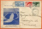 NORGE BF006,  * FDC, HOLMENKOLLBAKKEN For SKII JUMPING *  SENT To DENMARK 1951 - FDC