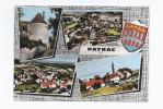 CPSM 46 - PAYRAC - Souvenir De Payrac - TB CP Multivue Dont Vues Générales + Blason - Autres Communes